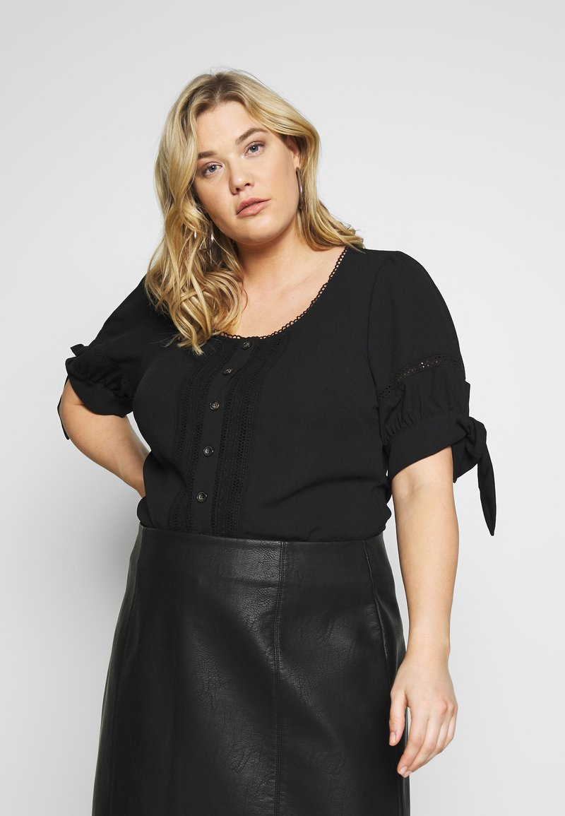 Fashion Union Plus - DOLLY BLOUSE - Blouse - black