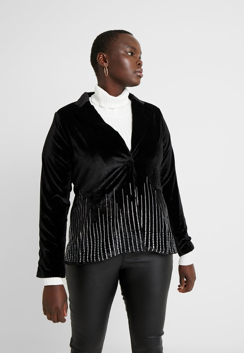 Fashion Union Plus - SHINE - Blazer - black