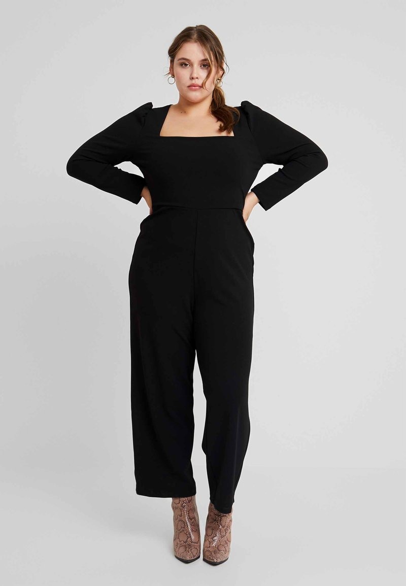 Fashion Union Plus - WITH SQUARE NECK LINE - Jumpsuit - black