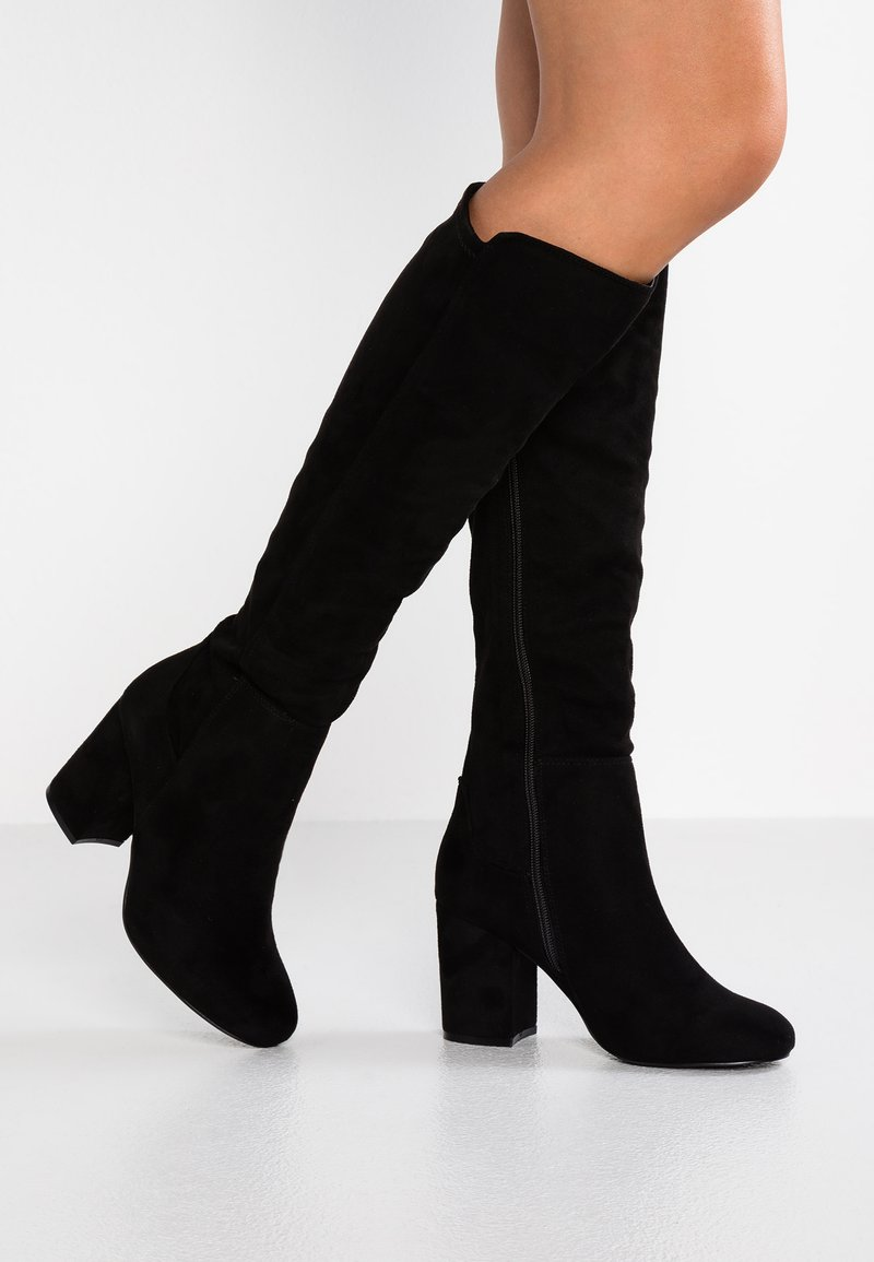 Faith Wide Fit  - WIDE FIT WYLIE - Over-the-knee boots - black