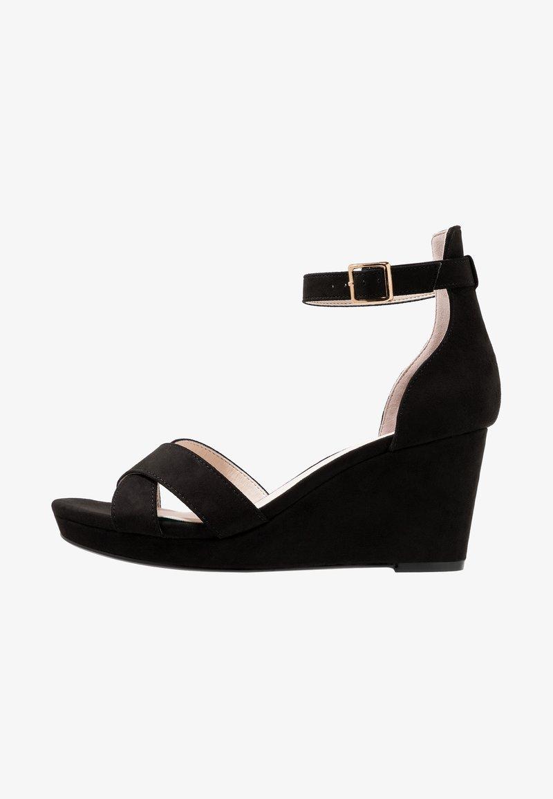 Faith Wide Fit  - WIDE FIT WUST - Platform sandals - black