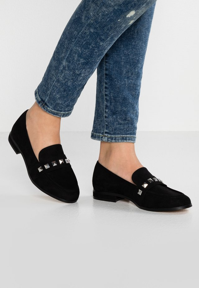 WIDE FIT WES  - Mocassins - black