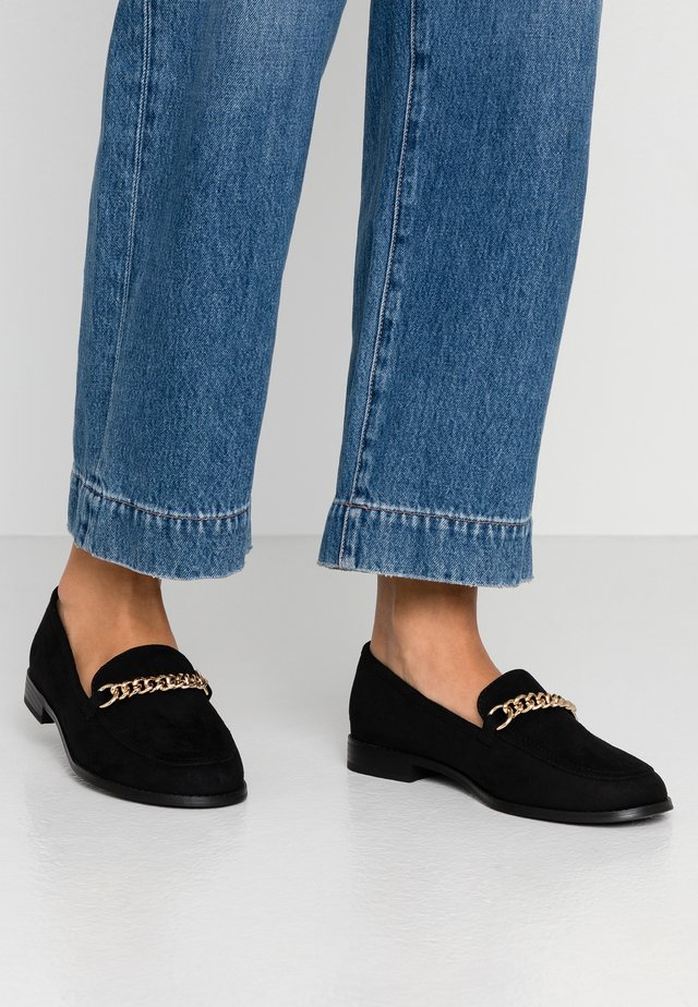 WIDE FIT - Slip-ons - black