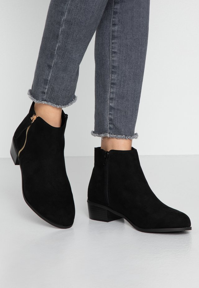 WIDE FIT WOOT - Boots à talons - black