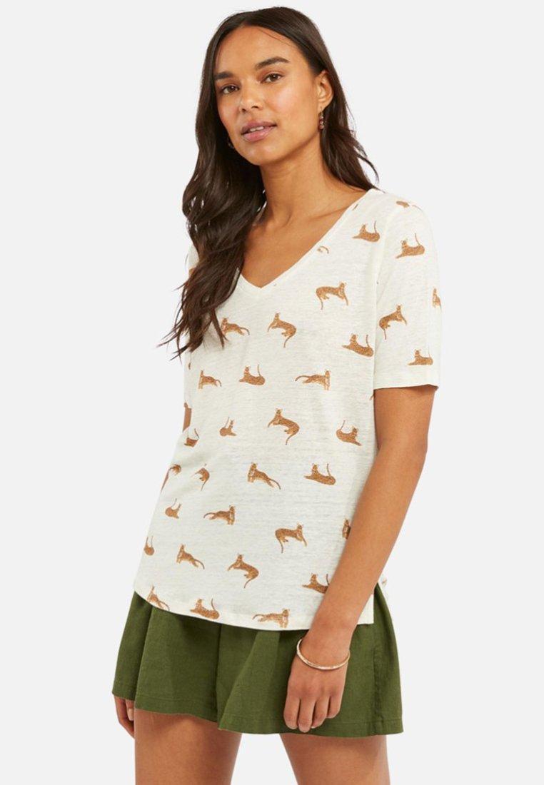 Fat Face - Print T-shirt - white