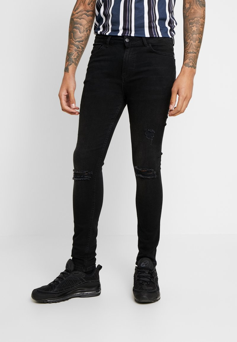 FAKTOR - CRUZ - Slim fit jeans - black wash