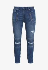 FAKTOR - AMIAS BIKER - Jeans Skinny Fit - blue wash - 4