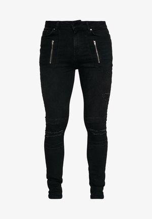 AMIAS BIKER - Jeans Skinny Fit - black wash