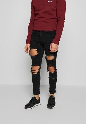 AVOIR - Skinny džíny - washed black