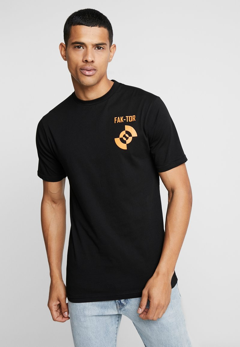 FAKTOR - UNION TEE - T-shirt med print - black