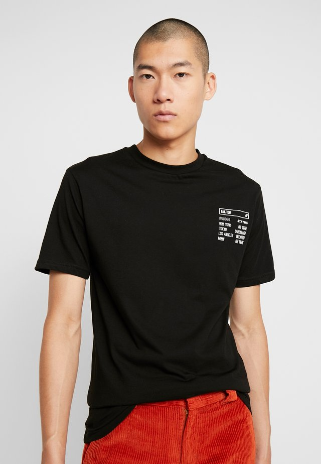 JARRELL TEE - T-shirt med print - black