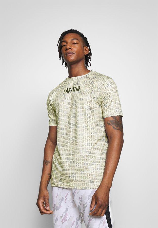 ALGO TEE - T-shirt z nadrukiem - beige