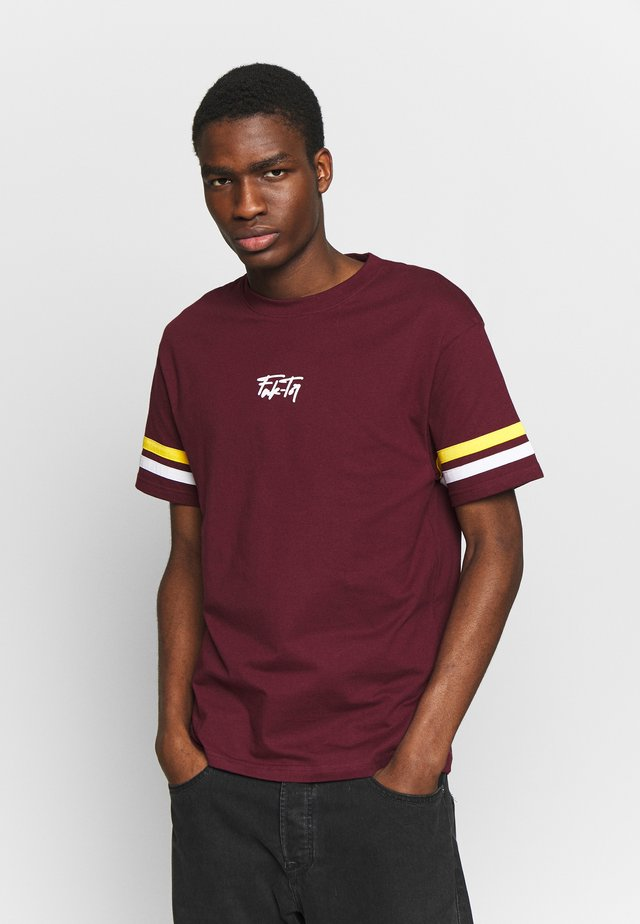 VOLCANO TEE - T-shirt print - burgundy