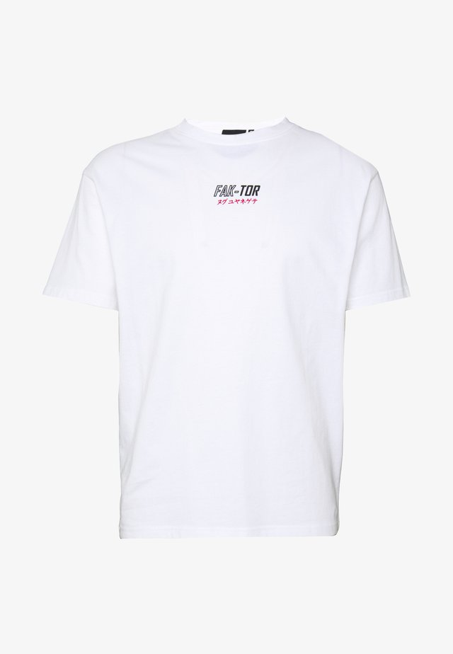 EXTRACT TEE - T-Shirt print - white