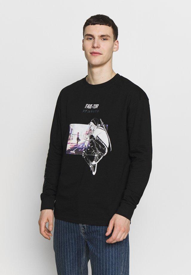VARES TEE - Camiseta de manga larga - black