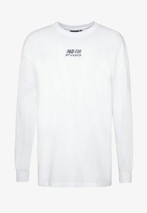 DESTROY TEE - Bluzka z długim rękawem - white