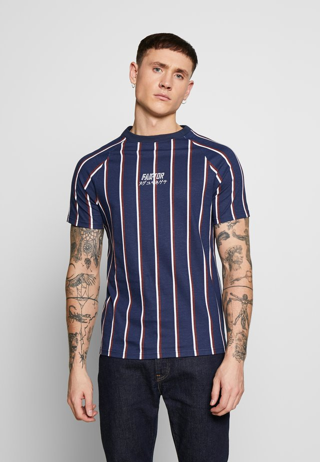 KOWL TEE - Camiseta estampada - navy