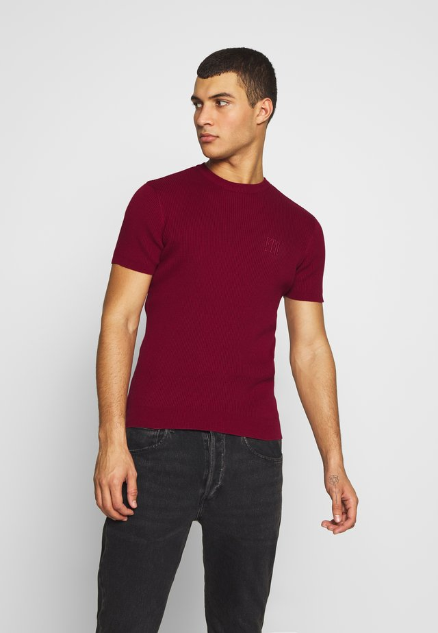 PAUL TEE - T-Shirt basic - burgundy