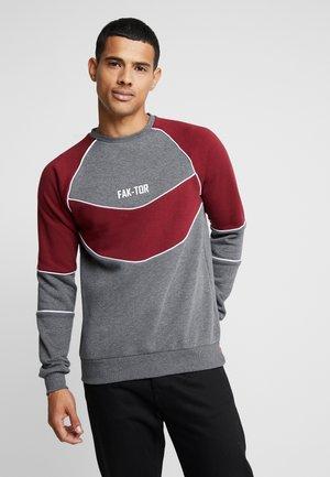 ANDERS CREW - Sweatshirt - burgundy