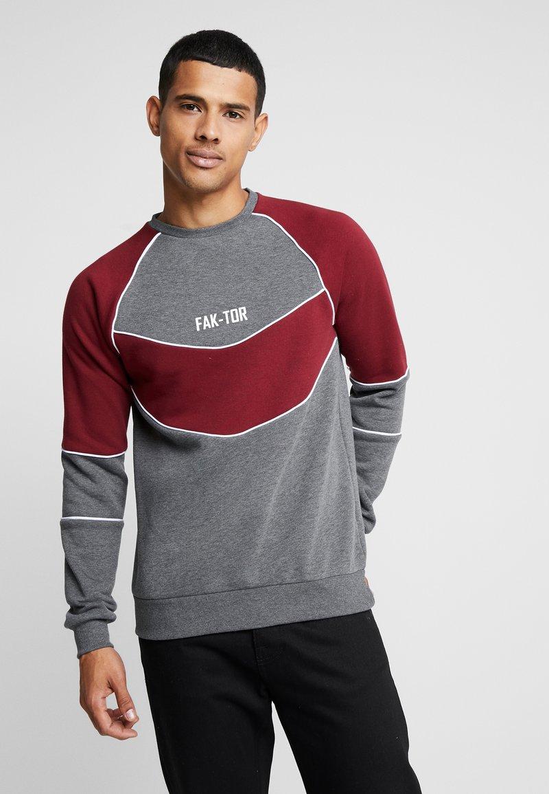 FAKTOR - ANDERS CREW - Sweatshirt - burgundy
