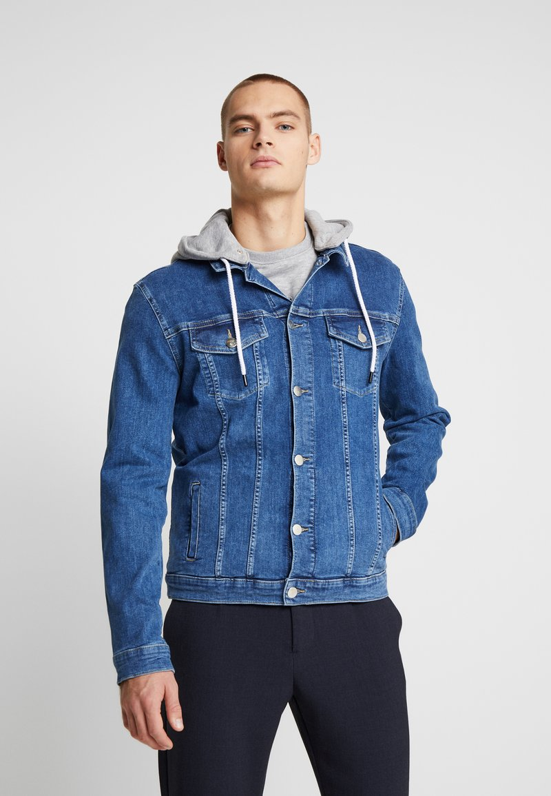 FAKTOR - DAEL JACKET - Spijkerjas - blue denim