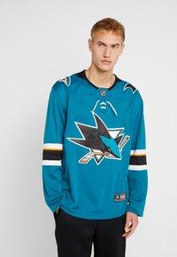 Fanatics - NHL SAN JOSE SHARKS FANATICS BRANDED HOME BREAKAWAY - T-shirt à manches longues - dark green - 0