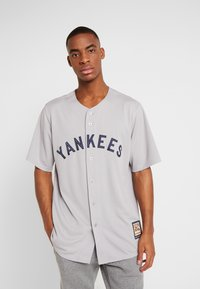 Fanatics - NEW YORK YANKEES MAJESTIC COOPERSTOWN COOL BASE - Fanartikel - white stripes - 0