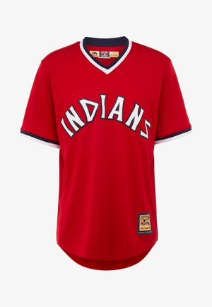 CLEVELAND INDIANS MAJESTIC COOPERSTOWN COOL BASE - T-shirt imprimé - red