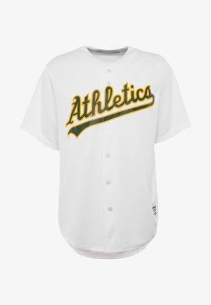 MLB OAKLAND ATHLETICS MAJESTIC COOL BASE HOME JERSEY - Printtipaita - white