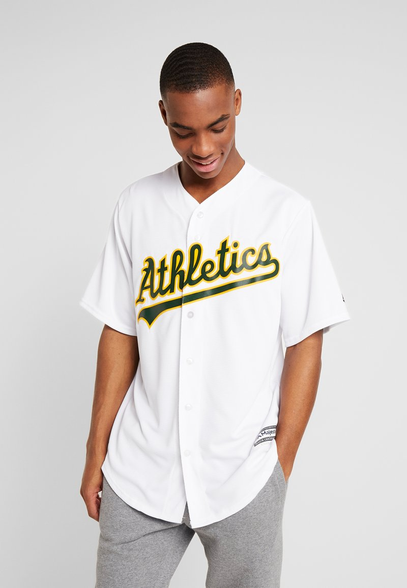 Fanatics - MLB OAKLAND ATHLETICS MAJESTIC COOL BASE HOME JERSEY - T-shirt imprimé - white