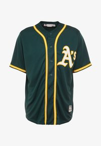 Fanatics - OAKLAND ATHLETICS MAJESTIC REPLICA COOL BASE ALTERNATE - T-shirt z nadrukiem - green - 4