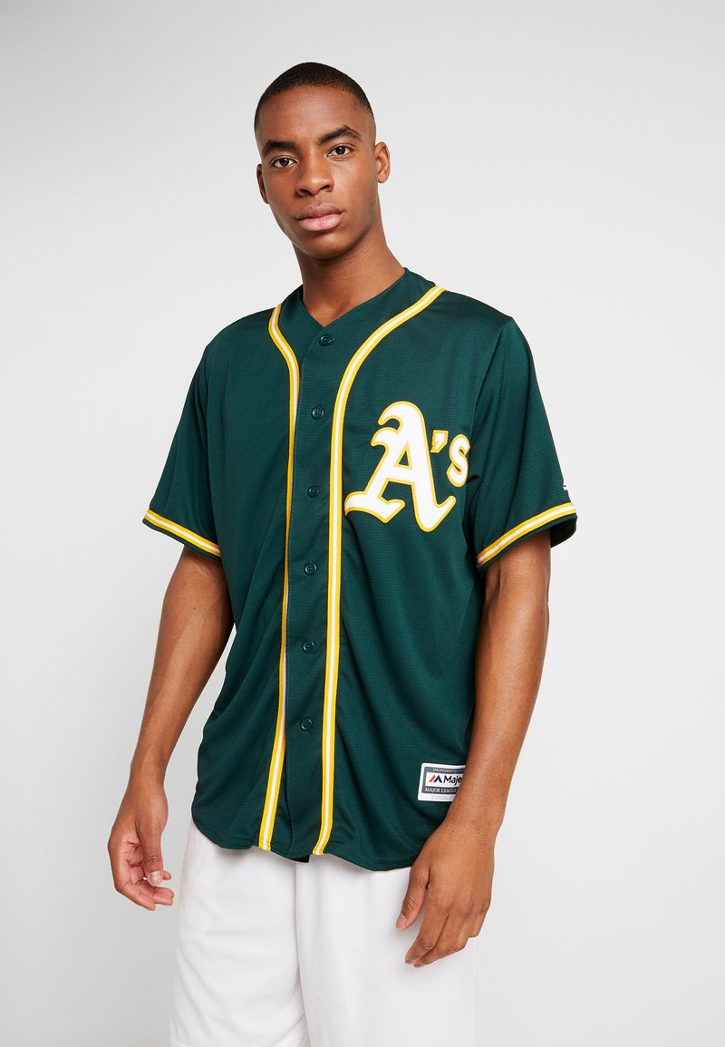 Fanatics - OAKLAND ATHLETICS MAJESTIC REPLICA COOL BASE ALTERNATE - T-shirt z nadrukiem - green
