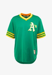 Fanatics - MLB OAKLAND ATHLETICS MAJESTIC COOPERSTOWN COOL BASE ME - Pelipaita - green