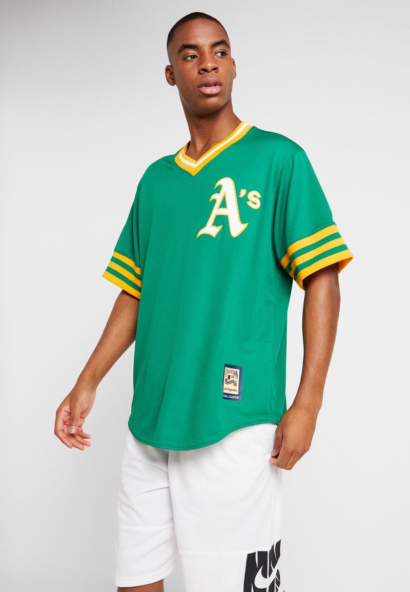 Fanatics - MLB OAKLAND ATHLETICS MAJESTIC COOPERSTOWN COOL BASE ME - Klubbkläder - green