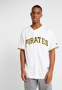 Fanatics - MLB PITTSBURGH PIRATES MAJESTIC COOL BASE HOME  - T-shirt imprimé - white - 0