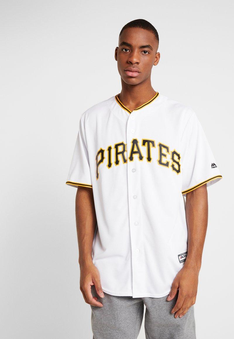 Fanatics - MLB PITTSBURGH PIRATES MAJESTIC COOL BASE HOME  - T-shirt print - white