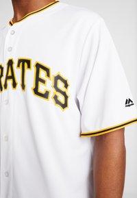 Fanatics - MLB PITTSBURGH PIRATES MAJESTIC COOL BASE HOME  - T-shirt print - white - 6