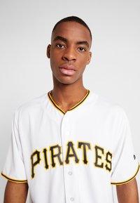 Fanatics - MLB PITTSBURGH PIRATES MAJESTIC COOL BASE HOME  - T-shirt print - white - 4