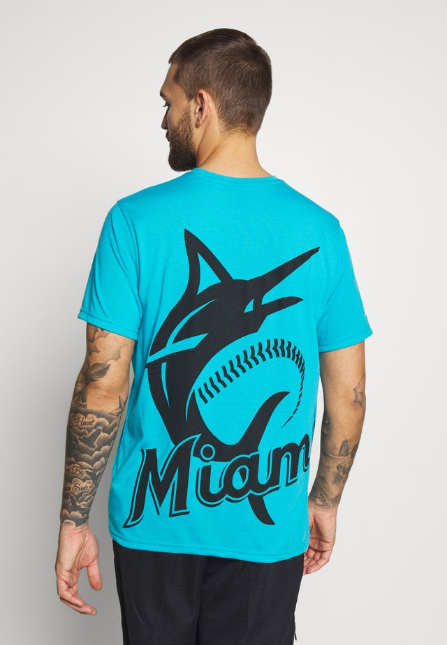 NFL MIAMI MARLINS SHORT SLEEVE  - T-shirt med print - blue