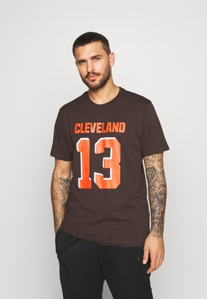 NFL CLEVELAND BROWNS ICONIC NAME & NUMBER GRAPHIC  - Club wear - brown