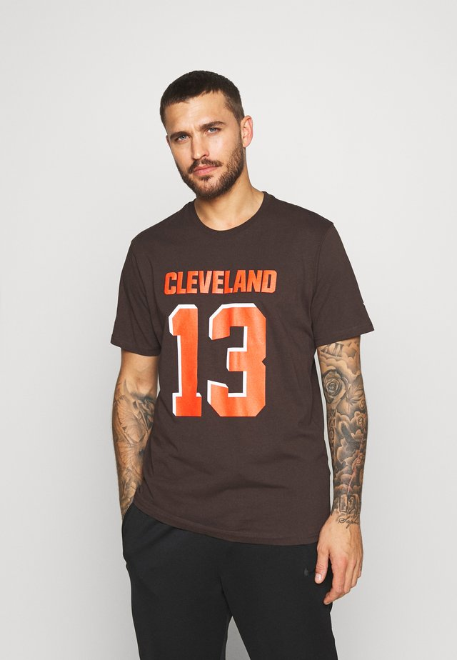 NFL CLEVELAND BROWNS ICONIC NAME & NUMBER GRAPHIC  - Klubbklær - brown