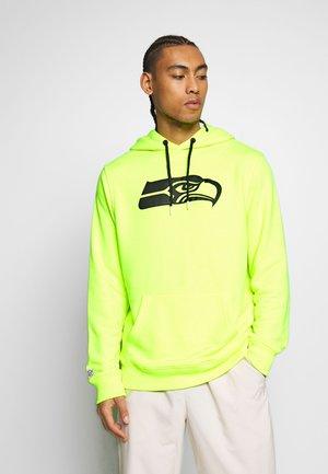 NFL SEATTLE SEAHAWKS OH HOODIE - Club wear - neon yellow