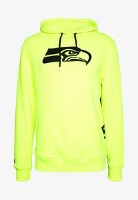 Fanatics - NFL SEATTLE SEAHAWKS OH HOODIE - Club wear - neon yellow - 5