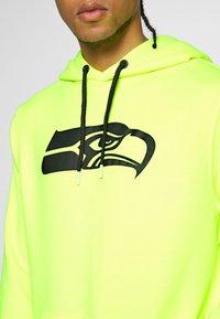 Fanatics - NFL SEATTLE SEAHAWKS OH HOODIE - Club wear - neon yellow - 6
