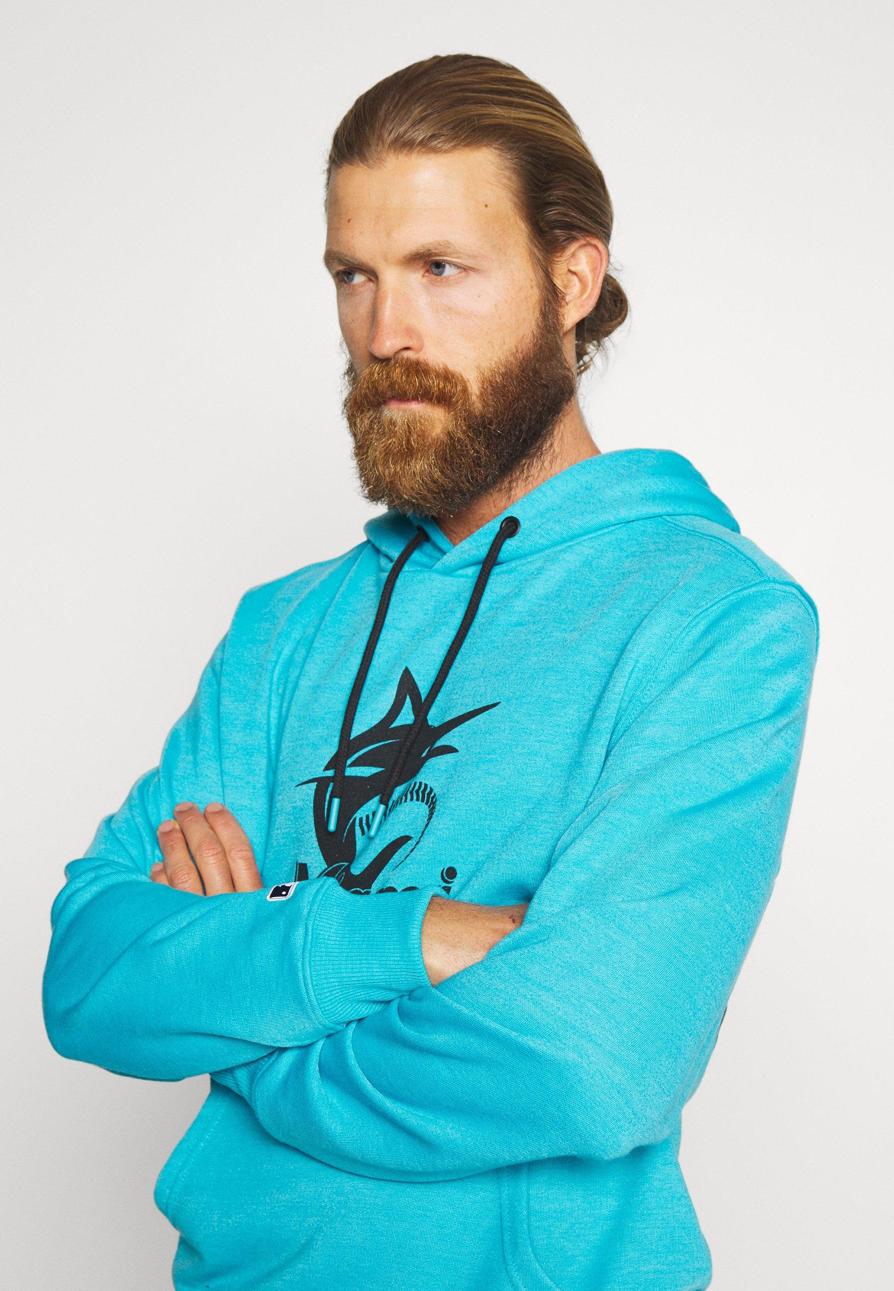 Fanatics Mlb Miami Marlins Hoodie - Klubbkläder Blue