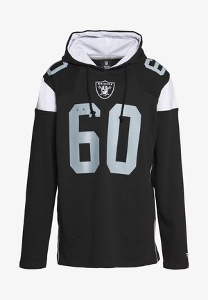 NFL OAKLAND RAIDERS ICONIC FRANCHISE OVERHEAD HOODIE - Club wear - black