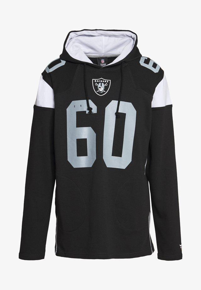 NFL OAKLAND RAIDERS ICONIC FRANCHISE OVERHEAD HOODIE - Klubbkläder - black