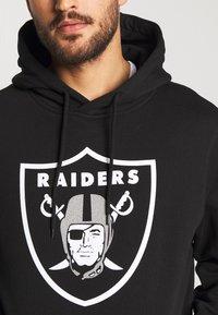 Fanatics - NFL OAKLAND RAIDERS ICONIC PRIMARY LOGO GRAPHIC HOODIE - Kapuzenpullover - black - 4