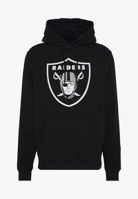 Fanatics - NFL OAKLAND RAIDERS ICONIC PRIMARY LOGO GRAPHIC HOODIE - Kapuzenpullover - black - 3