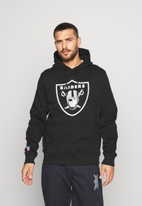 Fanatics - NFL OAKLAND RAIDERS ICONIC PRIMARY LOGO GRAPHIC HOODIE - Hoodie - black - 0